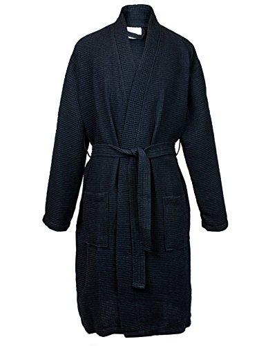 Bare Cotton 7023-0103-02 Kimono - Albornoz Largo para Hombre, Moderno, Negro, XX-Large, 1, 1