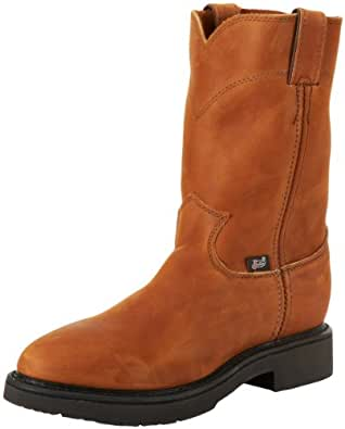 Justin Original Work Boots Men's Double Comfort 4760 Work Boot,Aged Bark,6.5 2E US