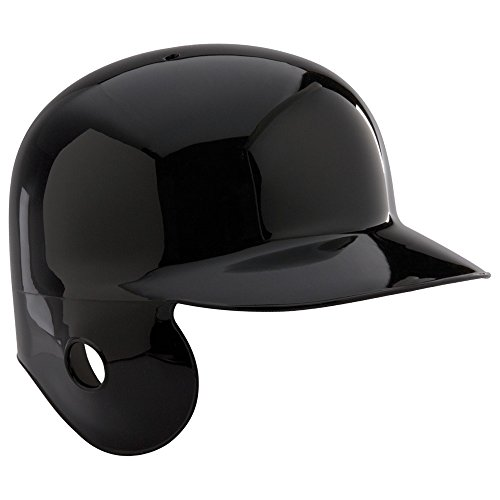 Rawlings Right Ear Traditional Style MLB Authentic Batting Helmet for a Left Handed Batter (Black Hat, Size 7 -
