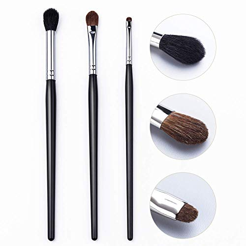UNIMEIX Professional Eyeshadow Eyeliner Blending Eye Makeup Brushes Set Soft Natural Black