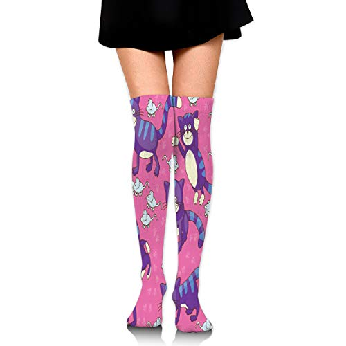 Price comparison product image Stockings Pink Cat Mouse Hot Womens Boot Socks Party Knee Thigh Sock Clearance For Girls