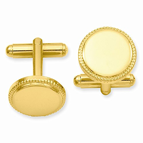 ICE CARATS Gold Plated Kelly Waters Beaded Round Cuff Links Mens Cufflinks Man Link Water Fashion Jewelry Gift for Dad Mens for Him