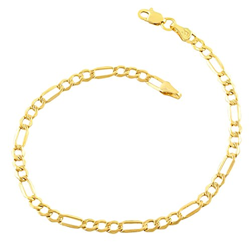 14k Gold Filled Bracelet (Certified Jewelry 14K Gold Filled Figaro Bracelets Available in 7.5