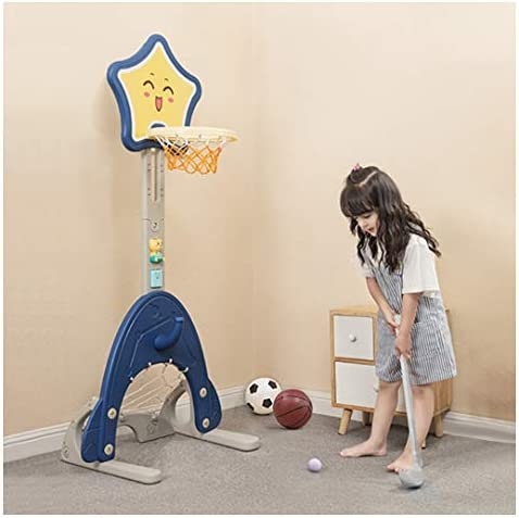 Toddler Basketball Hoop Set Erwazi Basketball Hoop Stand Adjustable Easy Score Ring Toss Cute for Baby Infant Kids Toddles (Multicolor)