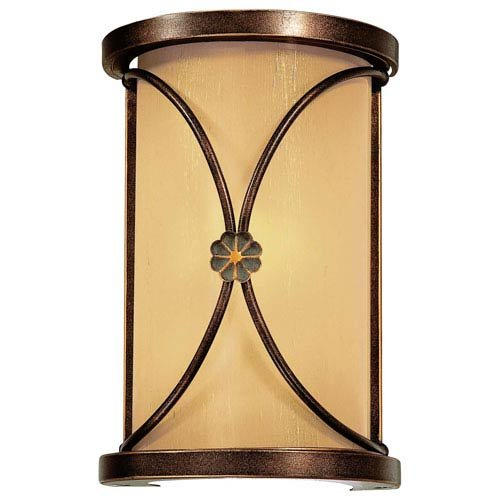 Minka Lavery Wall Sconce Lighting 6230-288, Atterbury Glass Wall Lamp Fixture, 1 Light, 60 Watts, ()