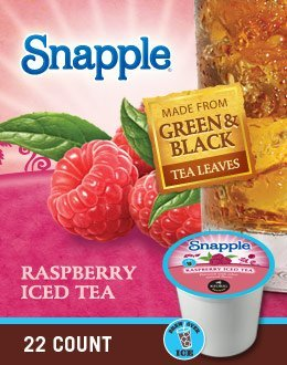 Snapple Raspberry Iced Tea single serve K-Cup pods for Keurig brewers, 88 Count by Snapple