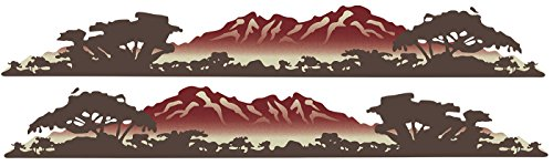 2 RV Keystone OUTBACK Mountain Scene Decal GRAPHICS-78