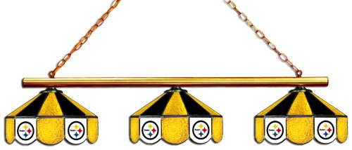Stained Lamp Pittsburgh Glass (Imperial Officially Licensed NFL Merchandise: Tiffany-Style Stained Glass Billiard/Pool Table 3 Shade Light, Pittsburgh Steelers)