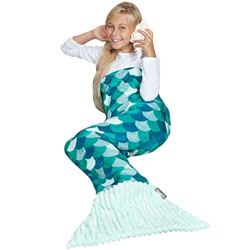 Kanguru Mermaid Tail Blanket Gifts for Girl 5 6 7 8 9 10 Year Old - Fun Gifts for Christmas and Birthday