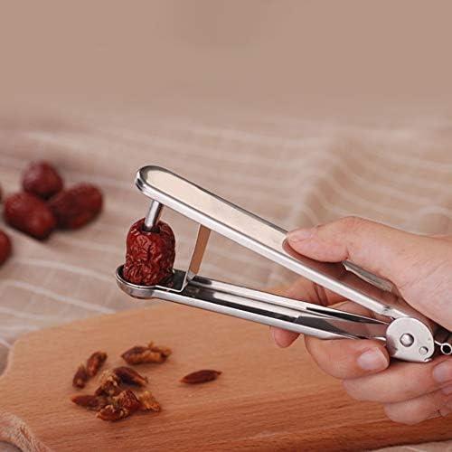 Chutoral Edelstahl-Kirschentkerner mit rotem Datum, geeignet für Küche, Familie, Outdoor, Reisen