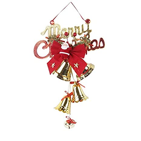 Image Unavailable - Amazon.com: Gold Happy Christmas Bells String Ornaments Christmas