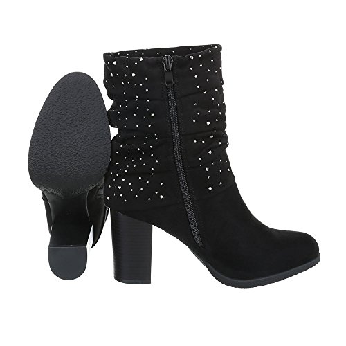 Ankle Black Kitten Design Heel at Ital Heeled Women's Boots Boots zBFSnwnIq