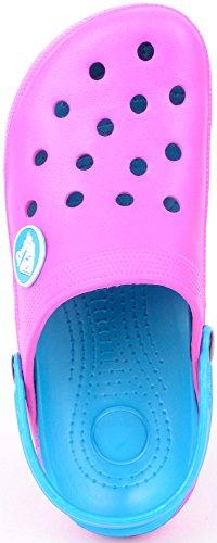 Ladies / Womens Summer / Holiday / Beach / Pool / Garden Clogs / Sandals / Shoes Pink 1jBZ5jPFV