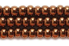 Preciosa Ornela Czech Seed Bead, Antique Copper On Black, Size 6/0 Shipwreck Beads 6SB556-C