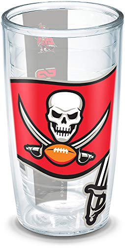 (Tervis NFL Tampa Bay Buccaneers Colossal Wrap Individual Tumbler, 16 oz,)