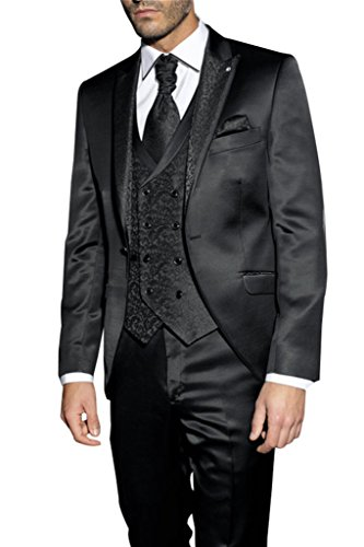Judi Dench@ Costume Hommes Slim fit ¨¦v¨¦nement de Prom Party Performance 3 pi¨¨ce tuxedo veste + pantalon + gilet 1026