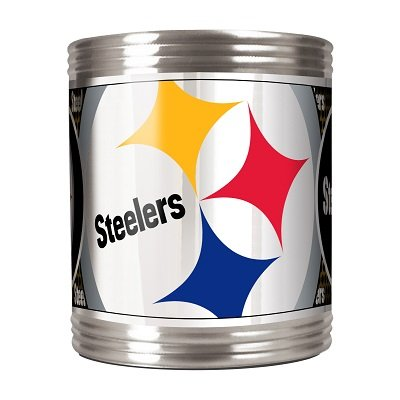 NFL Pittsburgh Steelers Metallic Can Holder, Stainless Steel