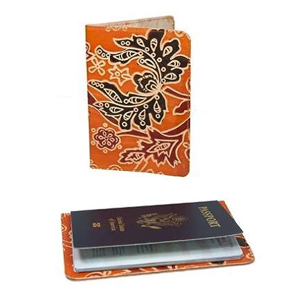 Orange Connected Fair Trade Fair Trade Cruelty Free Leather Passport Cover