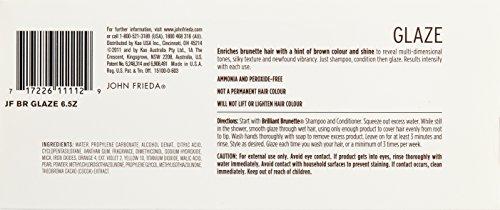 John Frieda U-HC-5396 Brilliant Brunette Liquid Shine Luminous Color Glaze for all Brunettes - 6.5 oz