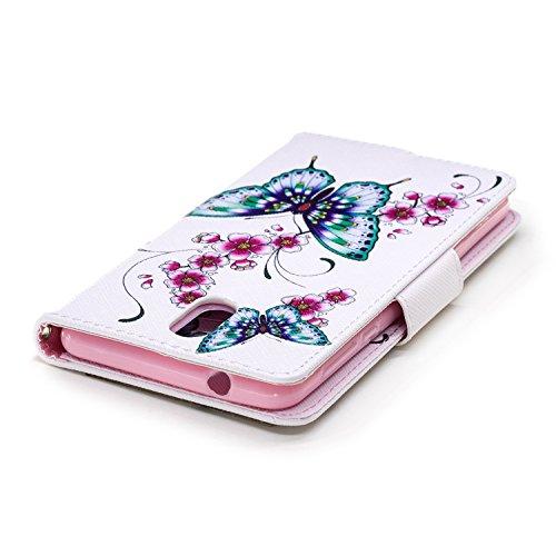 Cuir Cover Support 2018 Coque Cartes Nokia avec 1 pêche Nokia pour BONROY Flip Case Porte Portefeuille Étui 1 3 fleur Fonction PU Housse Wallet 2018 Papillon Printemps 3 de Dragonne 1qvUYZA