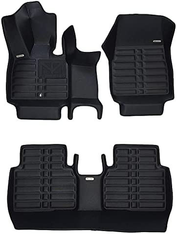 TuxMat Custom Car Floor Mats for BMW i3 2014-2022 Models– Laser Measured, Largest Coverage, Waterproof, All Weather. The BestBMW i3 Accessory. (Full Set – Black)