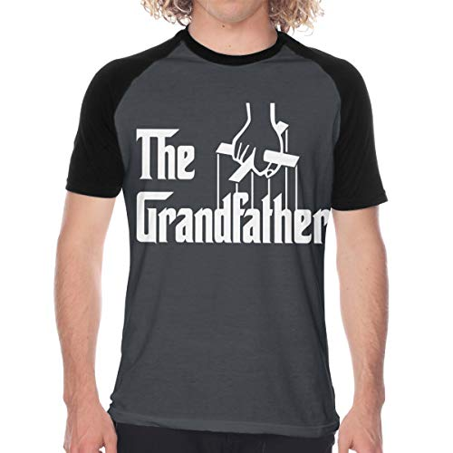 POCKWEEN The Grandfather Men's Baseball Tee T-Shirt Short Sleeve Casual Athletic Performance Jersey Shirt Black