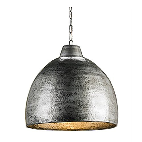 - Currey and Company 9782 Earthshine - One Light Pendant, Blackened Steel Finish