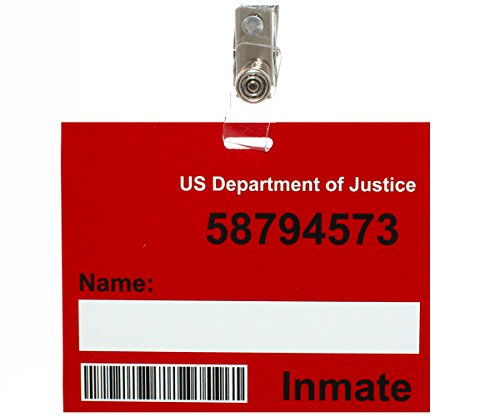 Prison Name Badge Prop For Prisoner Costumes Convict Costumes and Prison Scrubs (Make A Wish Costumes)