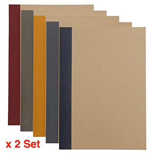 2 X MUJI Notebook B5 6mm Ruled 30 Sheets - 60 Pages, 5-Pack X 2 Set (10 Books)