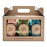 Modern Sprout Garden Jar Set of 3 - Kitchen Herb Kit