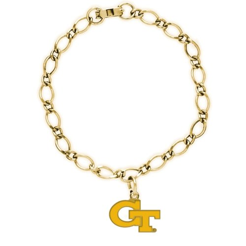 WinCraft NCAA Georgia Tech 57266081 Bracelet with Charms Clamshell