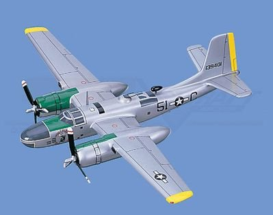 "A-26  Invader, ""Whistler's Mother"" Aircraft Model Mahogany Display Model / Toy. Scale: 1/43"