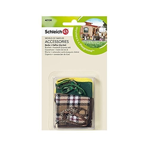 Schleich Schleich horse clothes + head stall (two sets) 42130