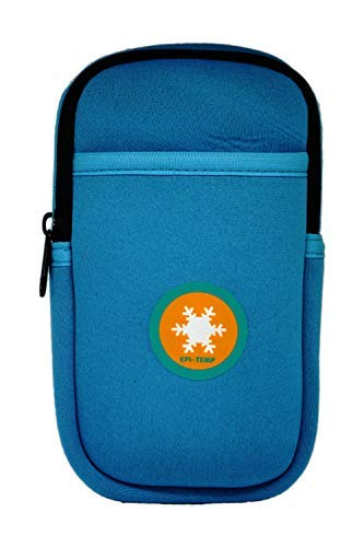 EPI-TEMP Epipen Insulated Case for Kids, Adults - Smart Carrying Pouch, Storage Bag, Powered by PureTemp Phase Change Material to Keep Epinephrine in Safe Temperature Range (Teal)