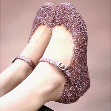 RUGAI-UE Moda de Verano Mujer sandalias casuales zapatos de tacones PU Confort,verde,US5 / UE35 / UK3 / CN34 Blushing Pink