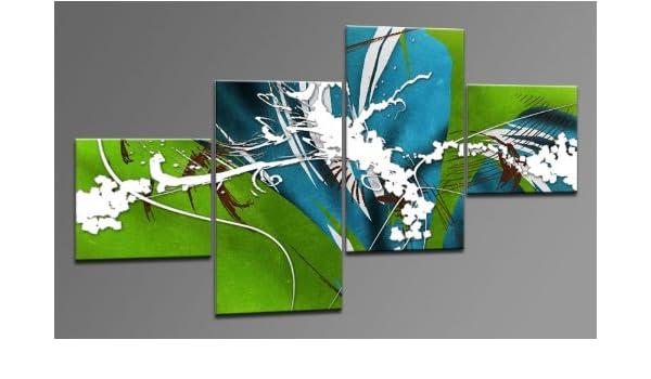 Arte moderno lienzo como 4 imágenes Art-Nr. M42400 MAGIC diseño ...