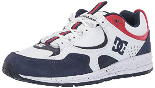 DC Men's Kalis LITE SE Skate Shoe, White/red/Blue, 11 M US