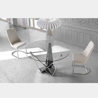M 034 Chaise Design Blanche et chromé SEOS:
