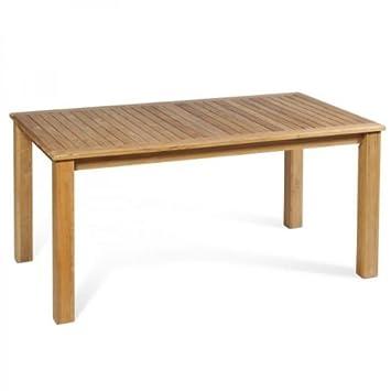 Teakholzmöbel küche  Massiver Gartentisch 160cm aus hochwertigem Teakholz: Amazon.de ...