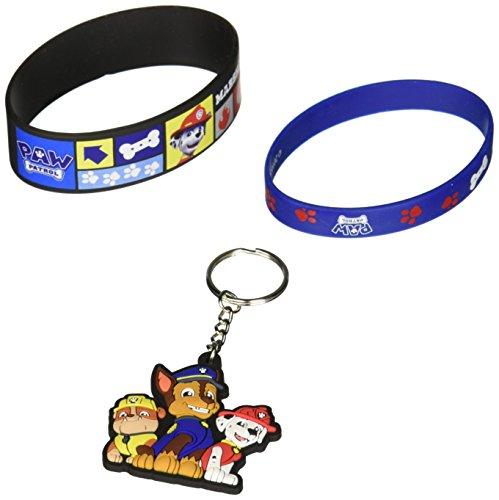 Nickelodeon Keychain (Paw Patrol Jewelry Box Set with Key Chain & Rubber Bracelets)