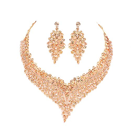 Affordable Costumes - Uniklook-Affordable wedding Jewelry Women's Peach Rose