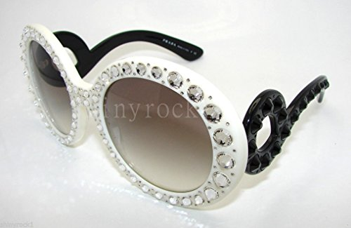 Prada Spr 31p Sunglasses White/black
