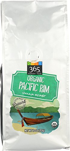 365 Everyday Value, Organic Pacific Rim Vienna Roast Ground Coffee – Bag, 10 oz