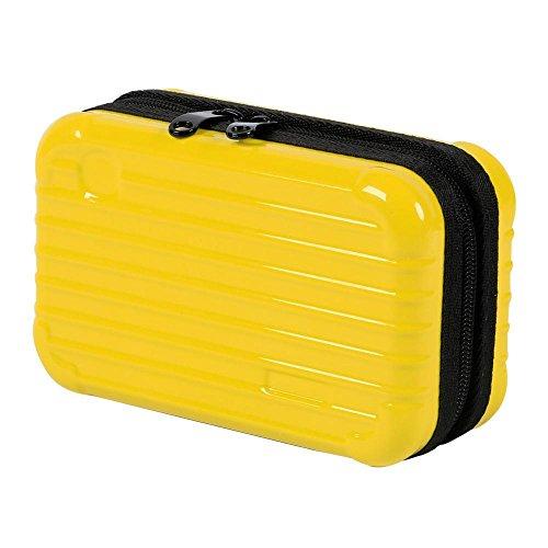 Topeakmart Makeup Cosmetic Bag Carrying Case Travel Organizer Handbag Suitcase Yellow
