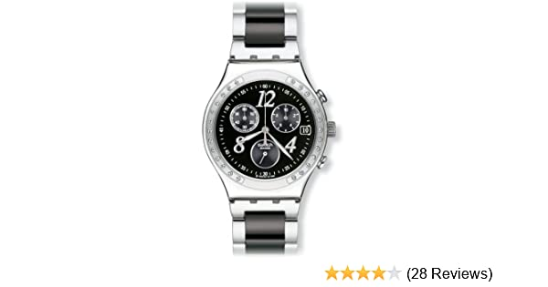 Amazon.com: Swatch Mens YCS485G Quartz Chronograph Stainless Steel Black Dial Watch: Swatch: Watches