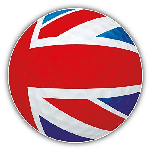 (Magnet United Kingdom Flag Golf Ball Window Truck Car Vinyl Flexible Magnet Magnetic Bumper Sticker 5'' x 5'')