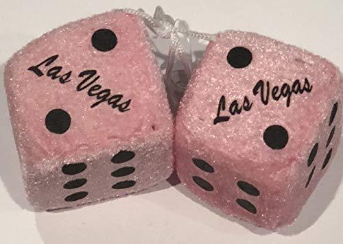 (Las Vegas Hanging Pink Fuzzy Dice)