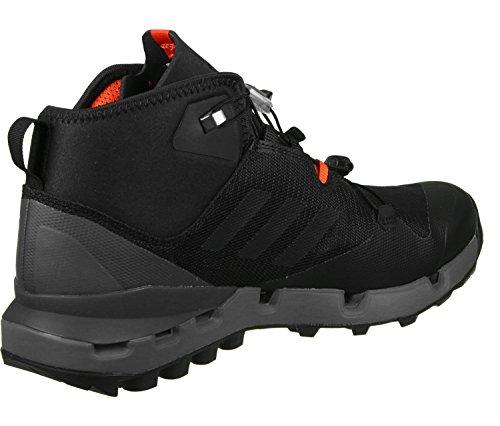 adidas Terrex Fast Mid Gtx-Surround, Zapatos de High Rise Senderismo para Hombre Negro (Nero Negbas/negbas/grivis)