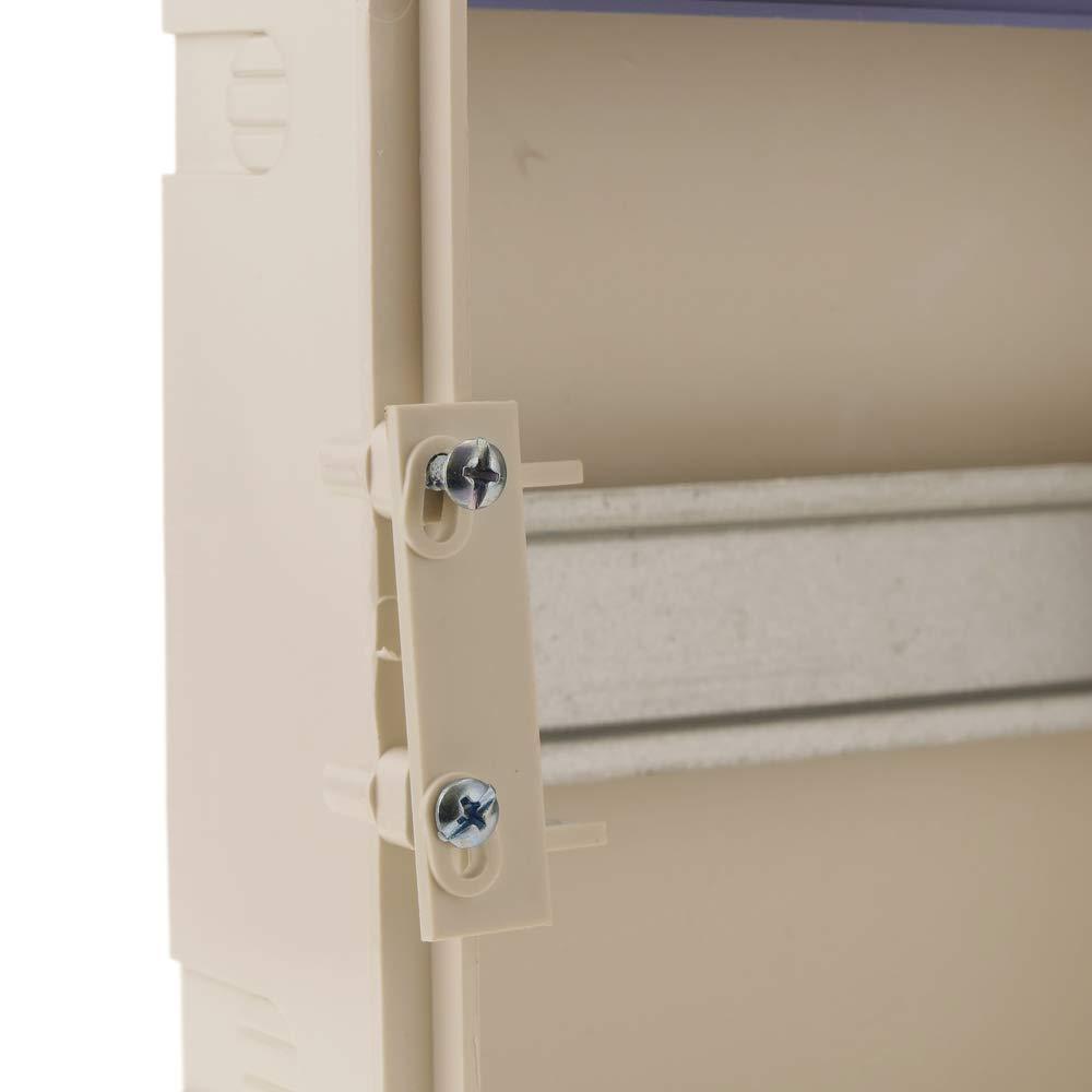 Bo/îte de Distribution /électrique de 8 modules de 17,5 mm pour encastr/é Plastique ABS SPN IP40 BeMatik