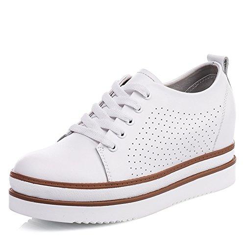 Gruesos Zapatos De Suela En La Primavera,Zapatos De Plataforma,Zapatos De Mujer Fondo Plano De Cuero A